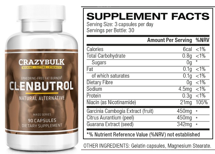 clenbuteral ingredients